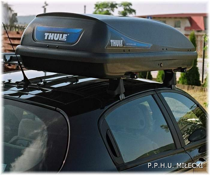 thule ocean 600 boks autobox baga nik dachowy box. Black Bedroom Furniture Sets. Home Design Ideas